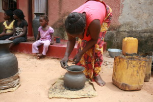 Making a clay water filter